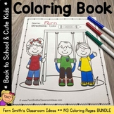 Back To School Coloring Pages and Cute Students Coloring P