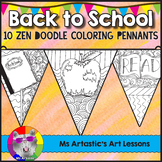 Back To School Coloring Pennant Banner