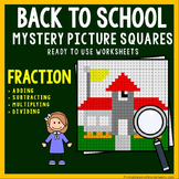 Fraction Operations Color By Number, 5th Grade Beginning Of The Year Math Review