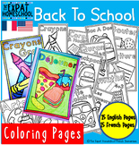 Back To School Coloring pages (French & Englsh)