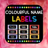 Back To School - Colourful Name Labels