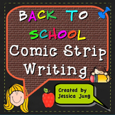 Back To School Comic Strip Writing