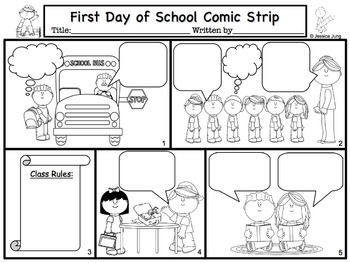 Back To School Comic Strip Writing
