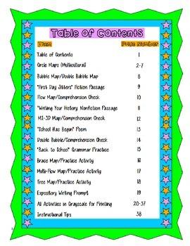 Back To School Comprehension Packet Grades 3-6