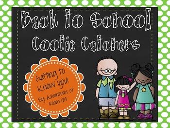 Back To School Cootie Catcher - Freebie