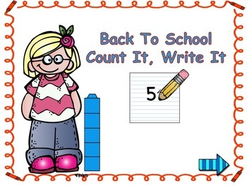 Back To School Count It, Write It 0-10 Digital Math Station