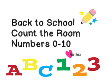Back To School Count The Room #s 0-10