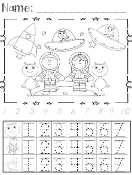 Back To School Count and Color or Count, Color, and Graph