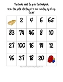 Back To School Count by 2 Skip Counting Maze