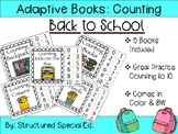 Back To School Counting Adapted Books