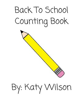 Back To School Counting Book
