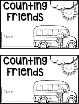 Back To School Counting Book --- Numbers 1-10 ***FREEBIE***