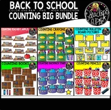 Back To School Counting Clip Art Big Bundle {Educlips Clipart}