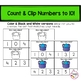 Back To School Counting Clip Card Math Center