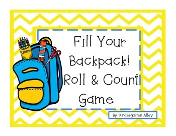 Back To School Counting Game