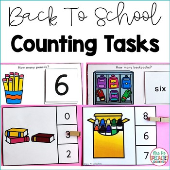 Back To School Counting Tasks