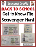 Back To School Craft - Get To Know Classmates Scavenger Hunt - Seasonal Craft