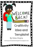 Back To School Craft and Template