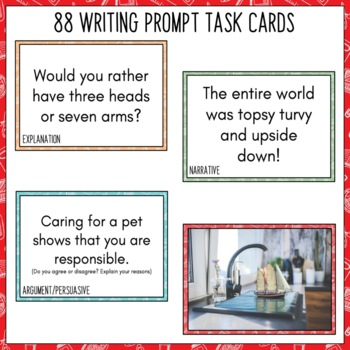 Daily Writing Prompts August NZ - PowerPoint, Journal, Worksheets