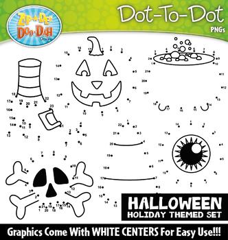 Halloween Dot-To-Dot Clipart {Zip-A-Dee-Doo-Dah Designs}