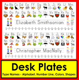 Desk Plate - Name Plates-Downloadable Print Clearly Font-Type Names!