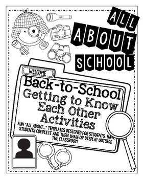 """Back To School Detectives """"All About"""" Templates"""