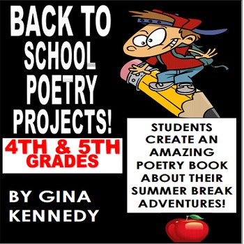 Back to School Poetry Projects, NO-PREP Way to Get Kids Writing Right Away!
