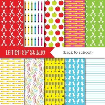Back To School-Digital Paper (LES.DP17)