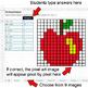 Back To School - Dividing Integers - Google Sheets Pixel Art