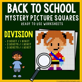 Back To School Division Coloring Worksheets