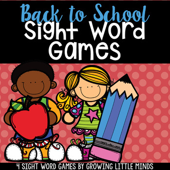 Back To School Dolch Sight Word Games- Fillable to add your own list!