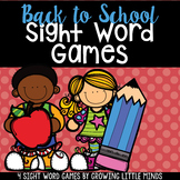 Back To School Dolch Sight Word Games- Fillable to add you