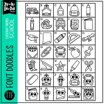 Back To School Doodle Font {Zip-A-Dee-Doo-Dah Designs}