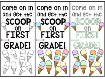 Back To School Door Decor- Ice Cream! #christmasinjuly