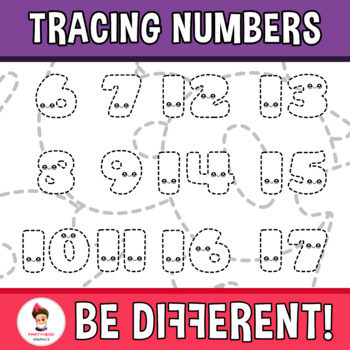 Back To School - Tracing Clipart (Numbers)