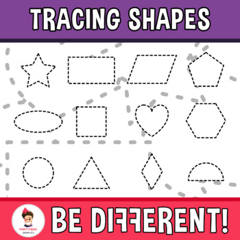 Back To School - Tracing Clipart (Shapes)