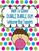 Back To School Dubble Bubble Gum Welcome Bag Topper