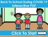 Back To School During COVID-19 Distance Learning Interactive PDFs