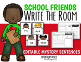 Back To School EDITABLE Mystery Sentences and Questions Wr