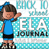 Back To School ELA Journal