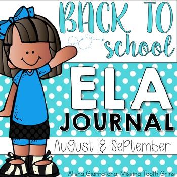 Back To School ELA Journal