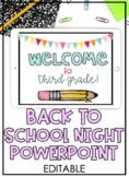 Back To School Editable Powerpoint - Open House PowerPoint - Meet The Teacher