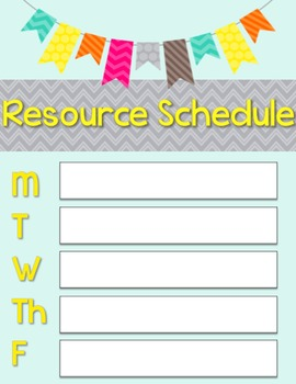 Back To School Editable Schedules