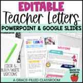 Meet the Teacher: Editable Teacher Letters