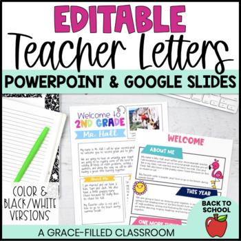 meet the teacher editable teacher letters