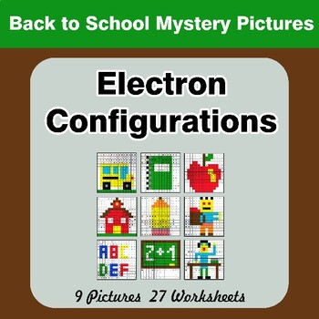 Back To School: Electron Configurations - Mystery Pictures