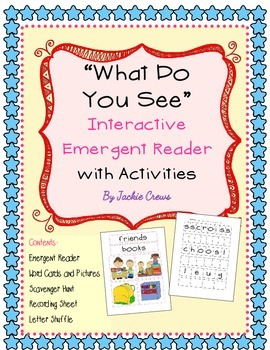 """ What Do You See?"" Emergent Reader With Games and Activities"
