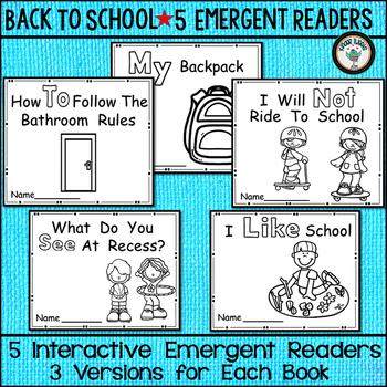 BACK TO SCHOOL EMERGENT READERS SET OF 5