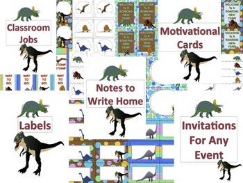 """Dinosaur Classroom Decor Back To School """"Welcome To A Roaring New Year"""""""