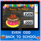Back To School Even Odd Numbers Within 100 Happy Birthday